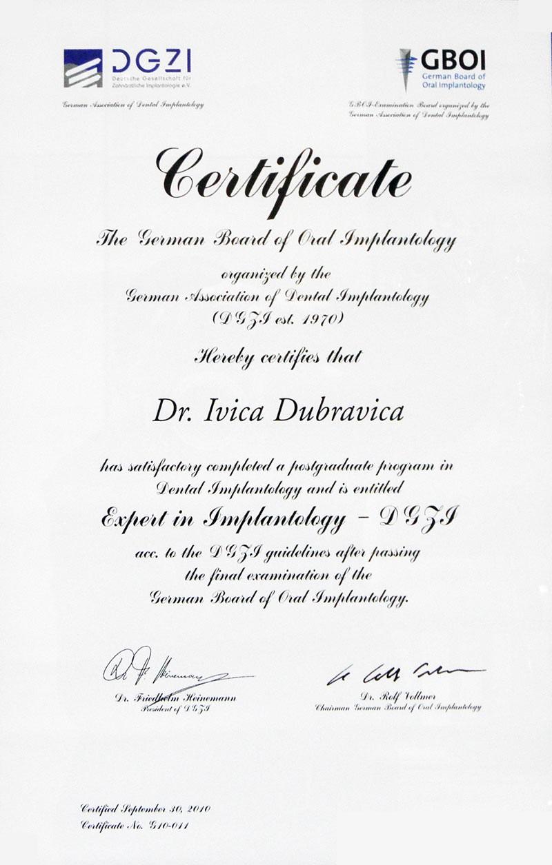 Dr. med. dent. Ivica Dubravica